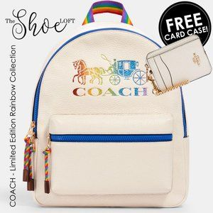 Coach Pride Collection Backpack w FREE Card Case